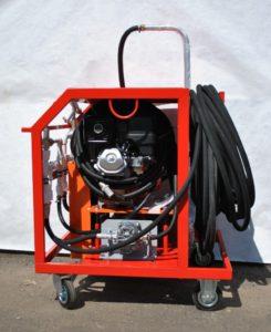 Оборудование для напыления жидкой рзины